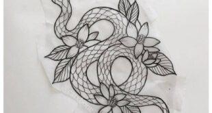 21 Realistic Snake Tattoo Drawing Ideas