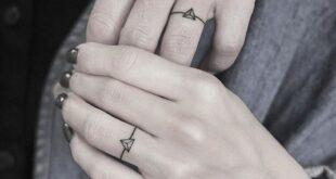 26 Sweet Wedding Ring Tattoo Ideas