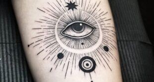 Abstract Evil Eye Arm Tattoo Tattoo İdea  #blackwork #Evil #Humaneye #Moon