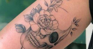 tattoo ideas female skull roses